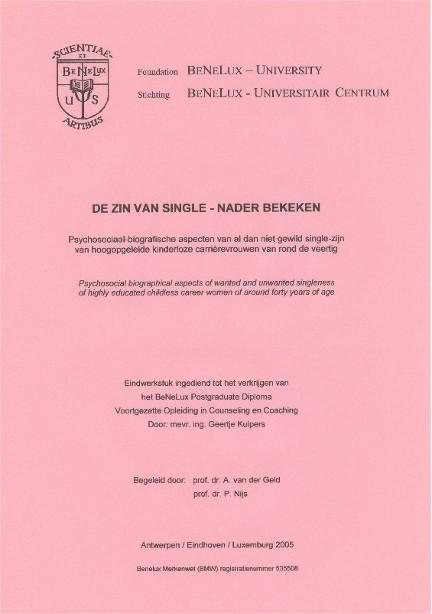 Voorblad thesis